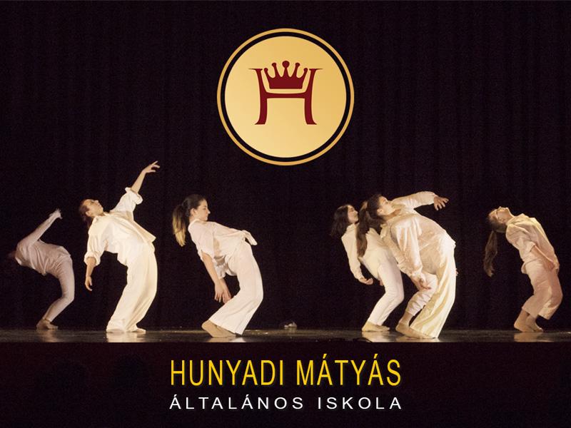Hunyadi Mátyás Általános iskola végzős moderntánc csoportja