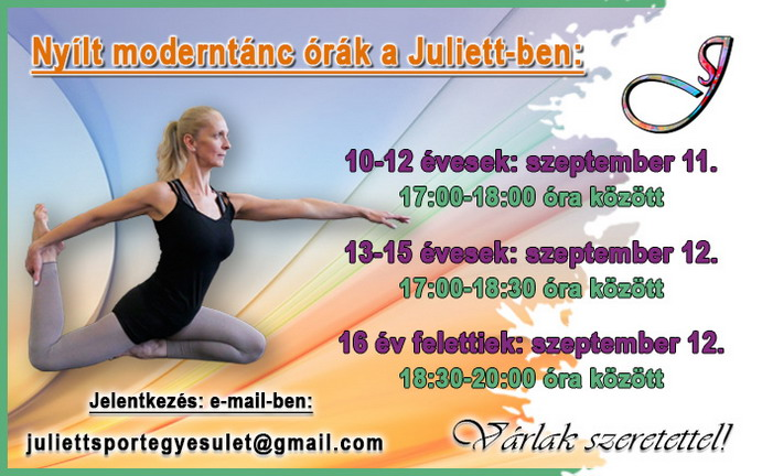 Nyílt órák a Juliettben!